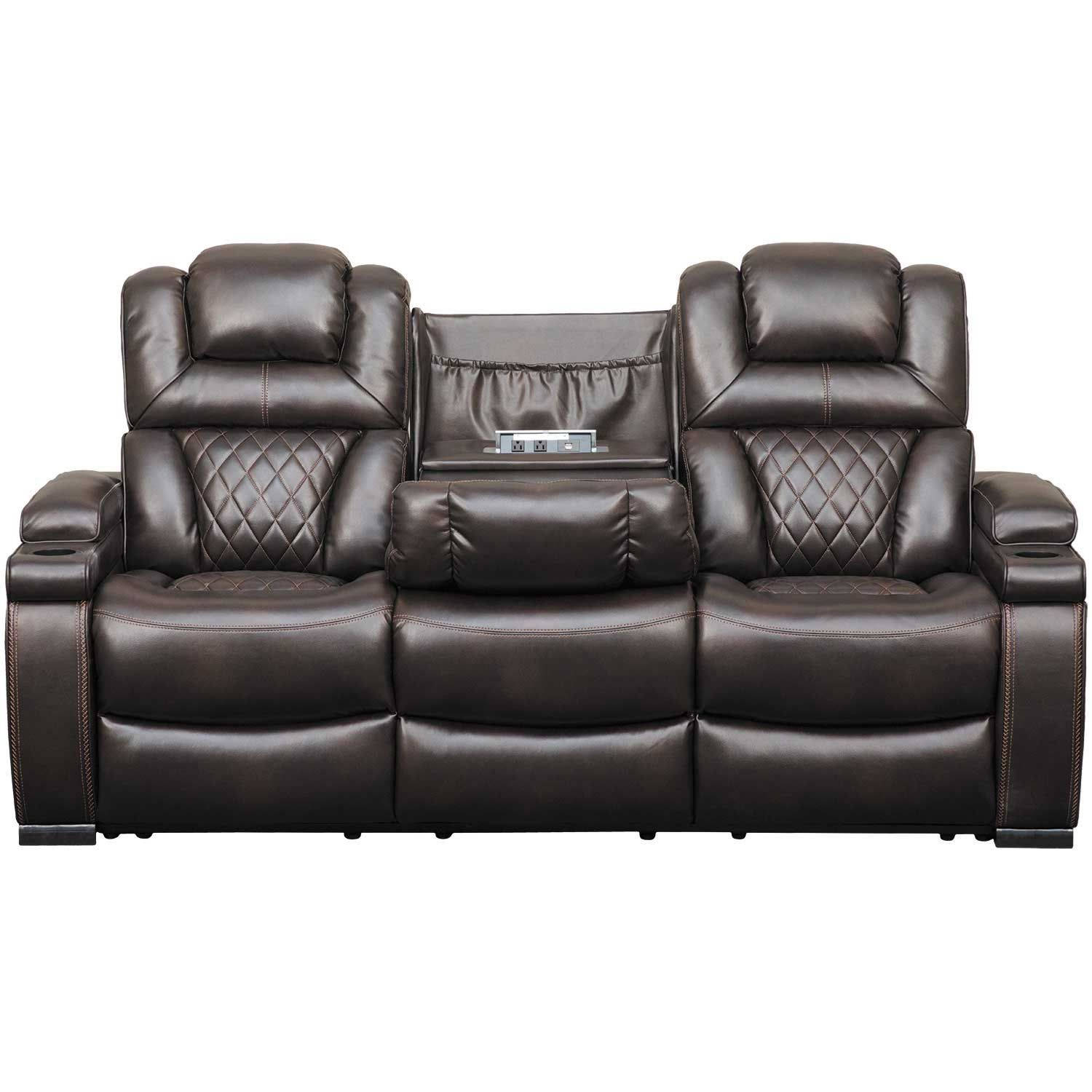 Warnerton Power Reclining Sofa With Drop Table Power Reclining Sofa Reclining Sofa Ashley Furniture Sofas