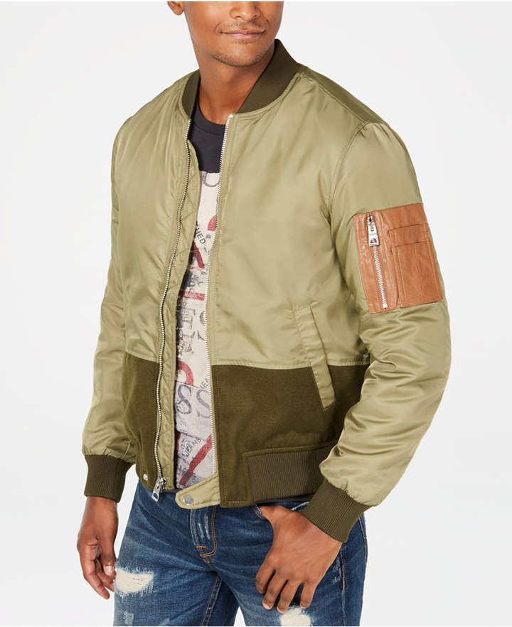 GUESS Men s Colorblocked Zip-Front Jacket  45673948588a7
