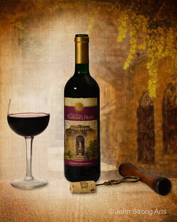 Fine Art Photography Tuscan Sun Wine Series Fine by JStrongPhotos