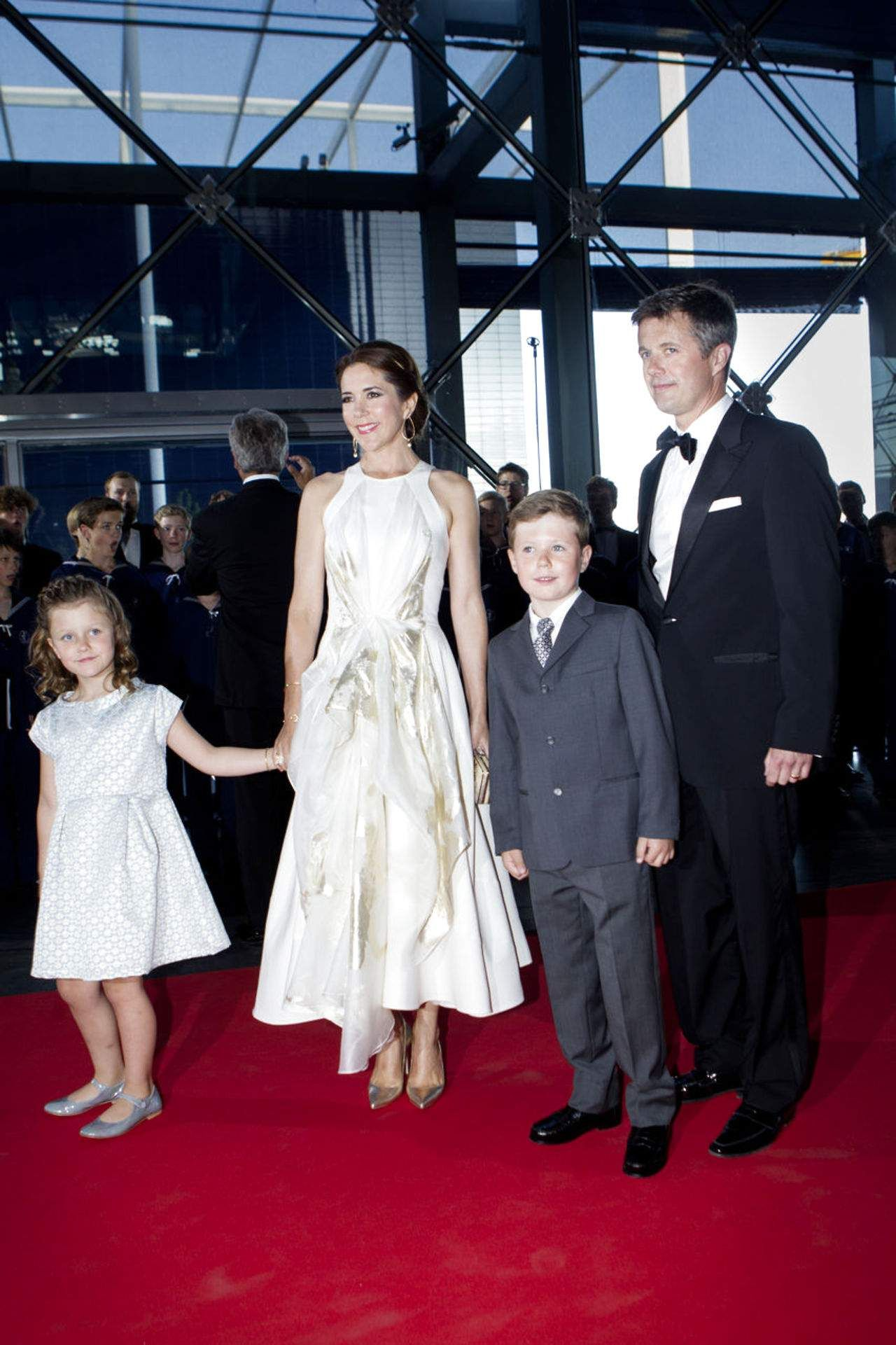 Denmark's Crown Prince Frederik and Crown 01.06.2014 - Princess Mary  had taken their two oldest children, Prince Christian and Princess Isabella at the DRs party performance in the Concert Hall on the occasion of the Prince Consort's 80th birthday