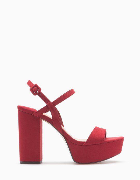 Zapatos Stradivarius Tacon Ancho