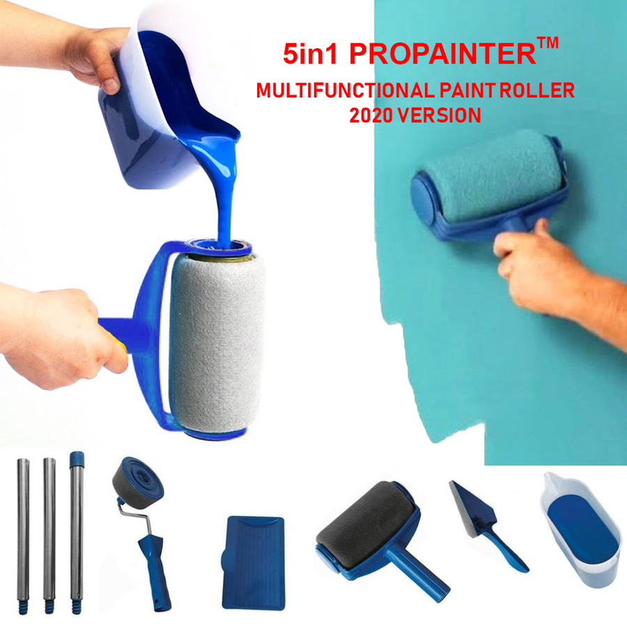 5in1 Propainter Multi Purpose Paint Rollers Pro Set New 2020 In 2020 Paint Roller Painted Trays Kitchen Paint