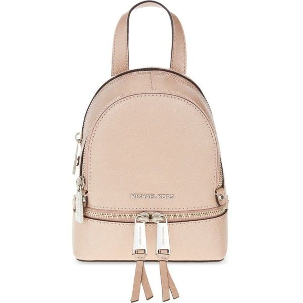 240d5d67f2f8 ... ireland michael michael kors rhea extra small leather backpack 280  liked on polyvore 6b0dc d928b