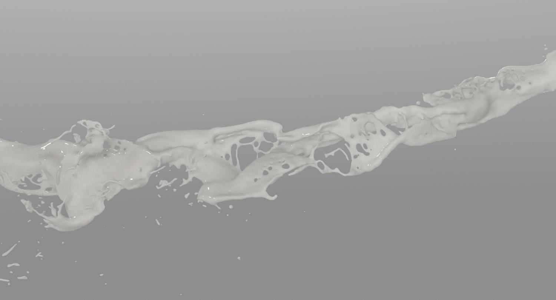 3d model #flow #splash #milk #white #ink #water #liquid #simulation