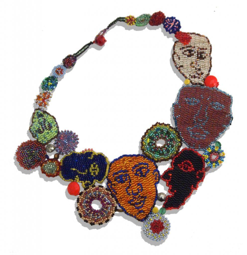JOYCE J. SCOTT ELECTION DAY III  2014. Peyote-stitched glass beads, thread