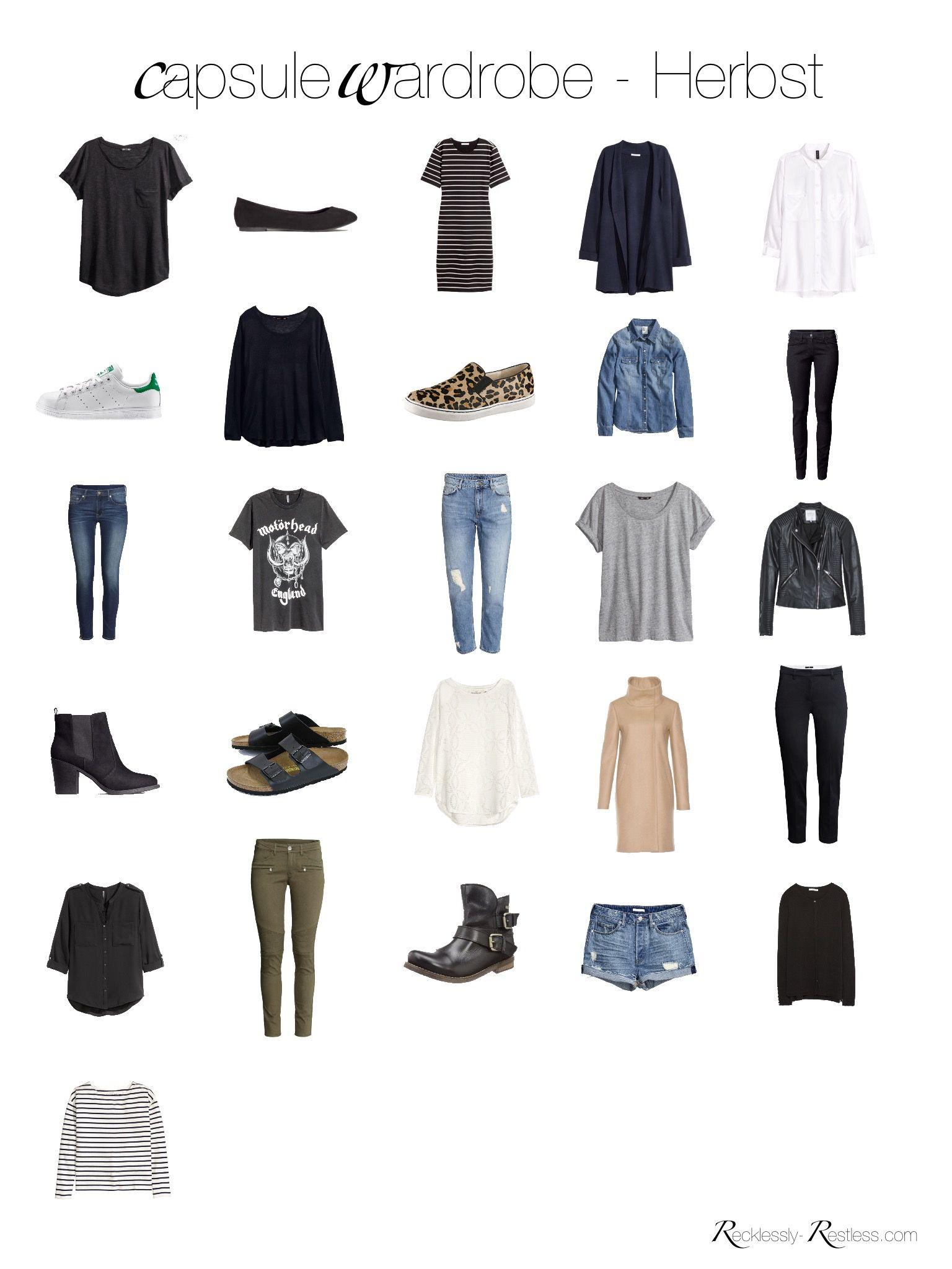 capsule wardrobe herbst 2016 halt mich zusammenfassung und das wochenende. Black Bedroom Furniture Sets. Home Design Ideas