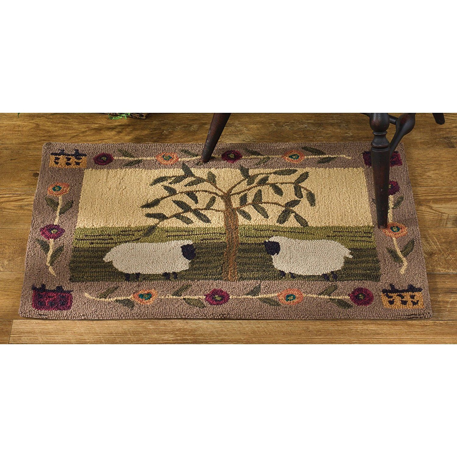 Park Designs Willow And Sheep Hooked Rug Click Image To Review