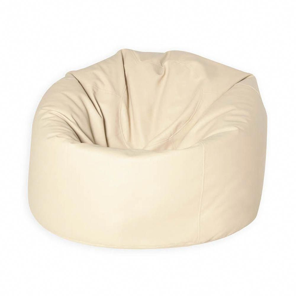 XXL Bean Bag  MAN SIZE  Faux Leather Cream  leatherbeanbagchair ... e2793b8feedb8