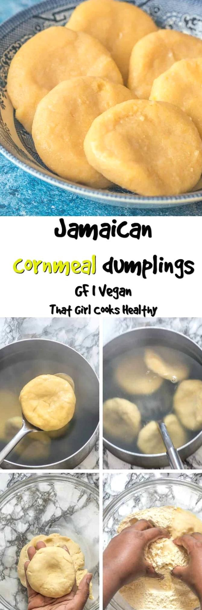 these jamaican cornmeal dumplings are so quick and easy