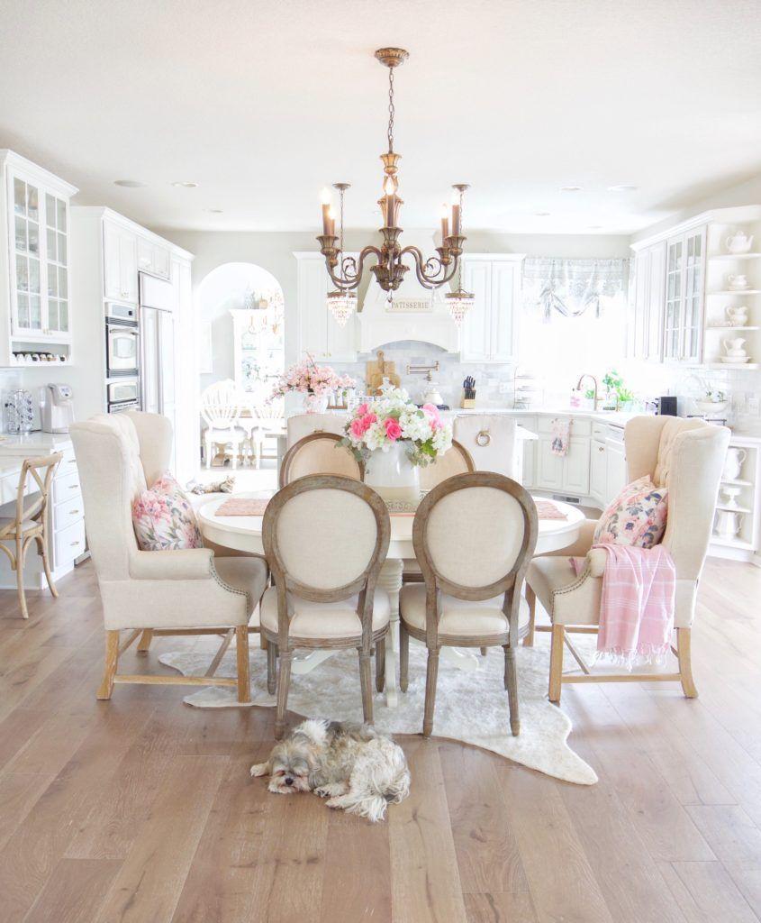 Elegant French Farmhouse Spring to Summer Kitchen   Home ...