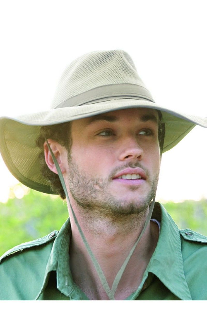 A safari style hat for men designed with UPF 50+ built right in for extra  protection from the sun. 1d724a65c6d