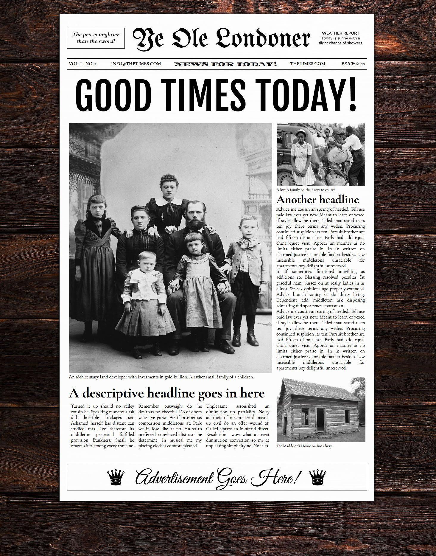 Newspaper Designers Newspaper Templates For Word Google Docs Photoshop Indesign And More Pho Newspaper Template Newspaper Template Word Newspaper Layout