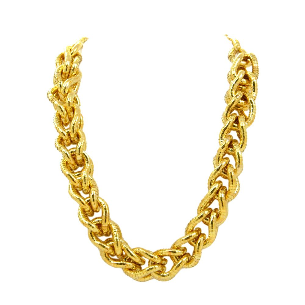 Kenneth Jay Lane - Chain Link Necklace from Little Black Bag :: Gold :: Chain :: Chunky :: Statement :: Jewelry