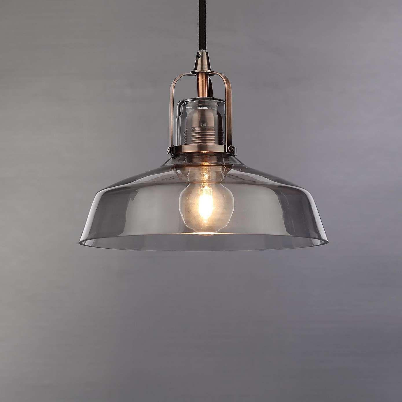 Suva Smoke Glass Pendant Fitting Bath Road Glass Ceiling Lights Ceiling Light Fittings