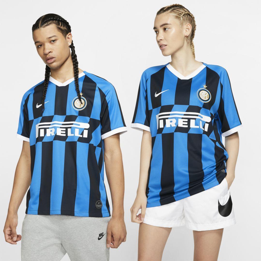 Inter Milan 2019 20 Stadium Home Soccer Jersey In 2020 Football Kits Soccer Men S Football