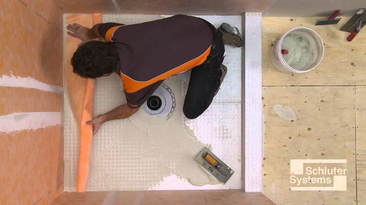 Schluter Kerdi Drain With Kerdi Shower St Youtube In 2019