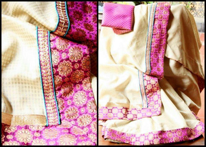 Off white saree