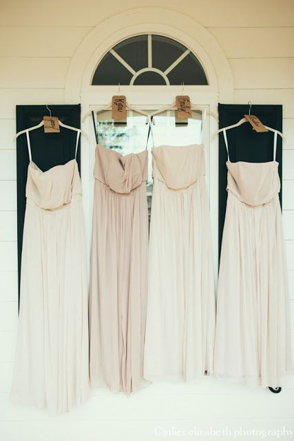 PEACH/ NUDE BRIDESMAID DRESSES