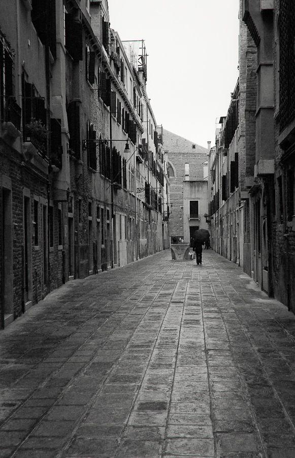 Street, Venice, Italy cosi' era Venezia circa 30 anni fa*silva*