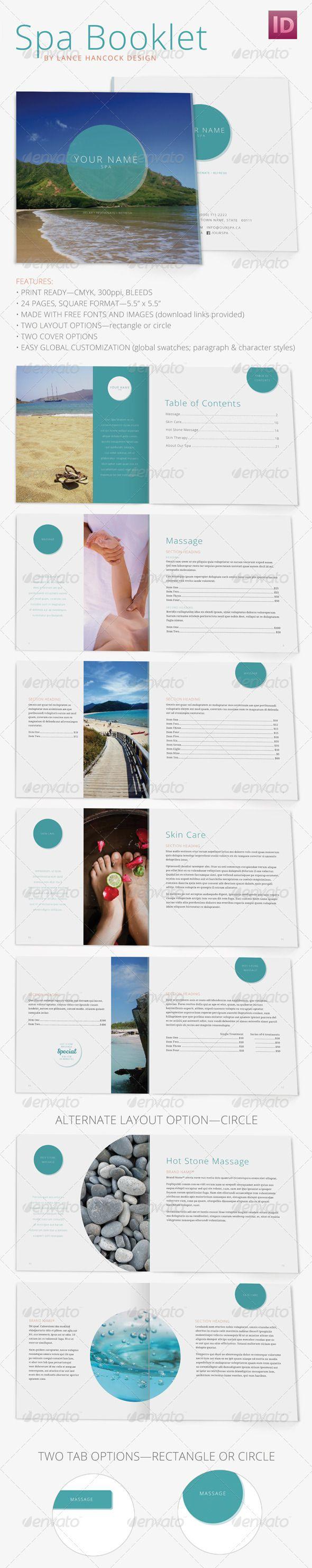 Square Spa/Wellness Booklet Brochure   Tarjetas de presentación y ...