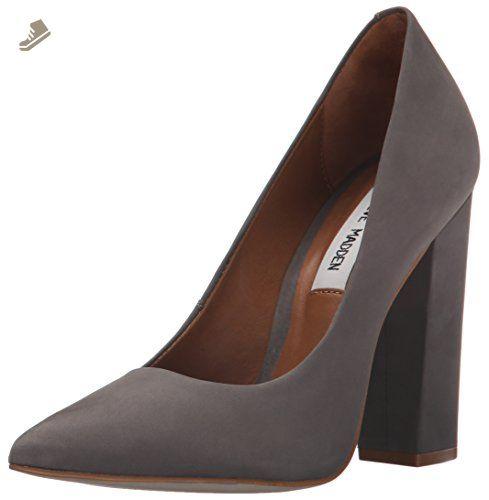 Steve Madden Womens Primpy Leather Pointed Toe Classic Black Nubuck Size 6.5 I