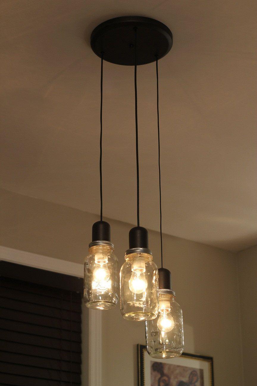 cottage mason jar chandelier. Mason Jar Light Chandelier Pendant Ceiling 3 By ModernAmbience Cottage D