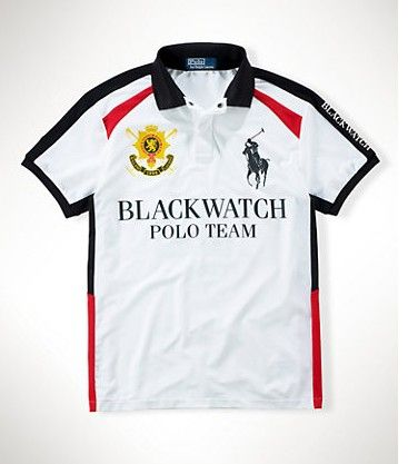 Ralph Lauren Men Black Watch Polo White Outlet Online