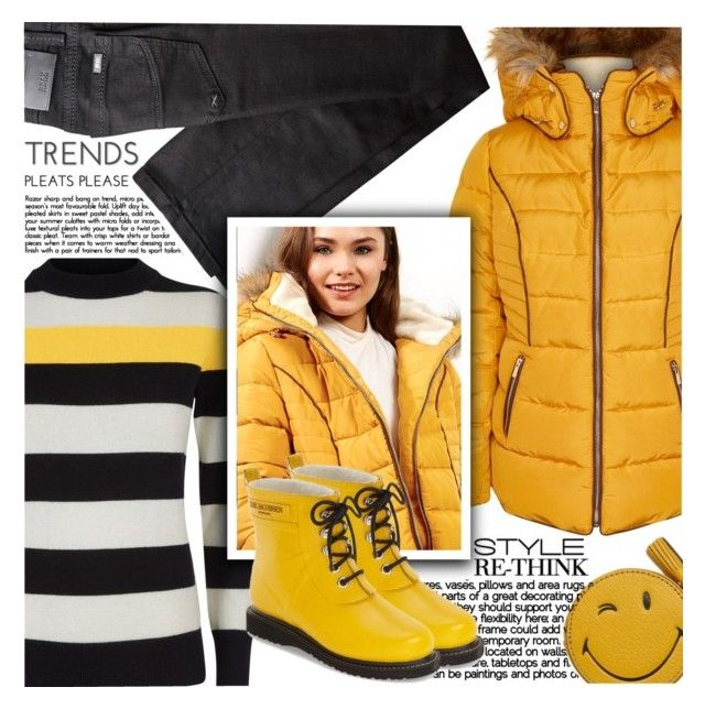 """""""Perfect Puffer Jackets"""" by shoaleh-nia ❤ liked on Polyvore featuring Jaeger, BRAX, Anya Hindmarch, New Look and Ilse Jacobsen Hornbaek"""