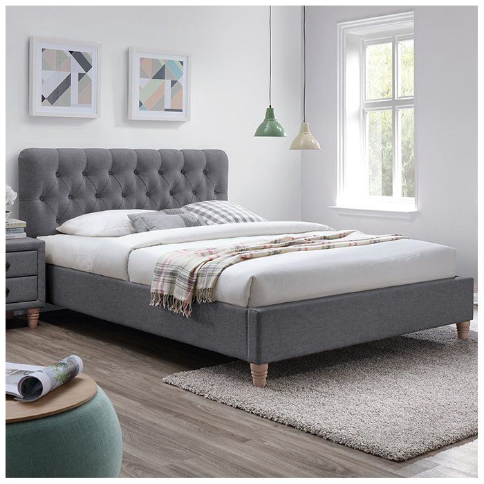 of bed furniture tov queen upholstered finley ebay s grey picture platform p