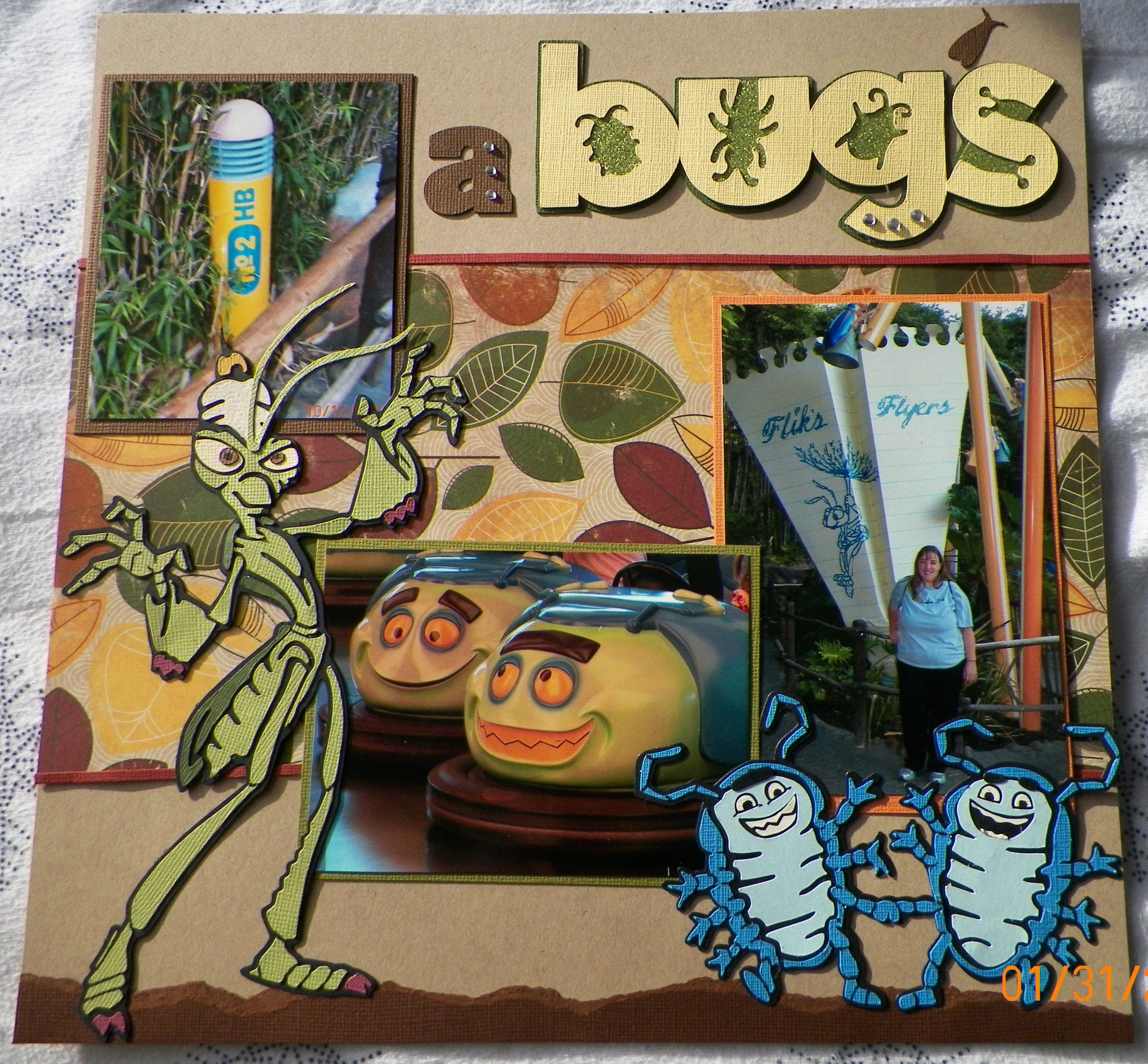 Scrapbook ideas adventure - Handmade Scrapbook Layout Pg 1 A Bug S Land California Adventure Kit From