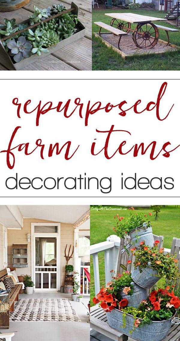 Repurposed farm equipment ideas for home decorating | Repurposed ...