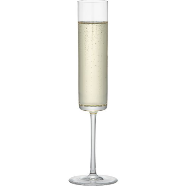 Edge Champagne Glass  | Crate and Barrel