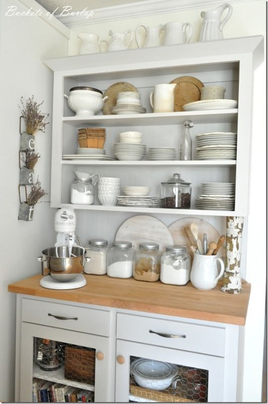 This Baking Station Is Adorable Love The Grays Whites Neutrals Bucketsofburlap