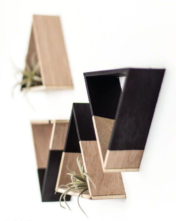 Photo of DIY Triangle Shelving for Home Decor Displays