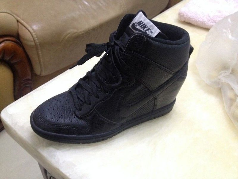 timeless design 6ae80 ada0a ... 528899-010 Nike Dunk Sky High Womens Snake Blackout ...