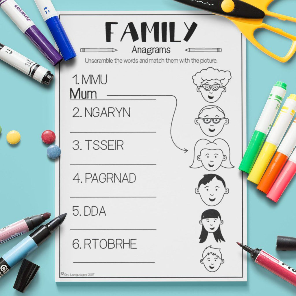 Family Anagrams