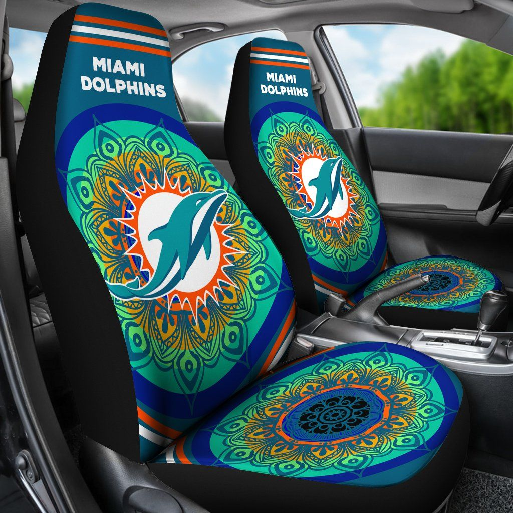 Amazing Magical And Vibrant Miami Dolphins Car Seat Covers Miami Pabps2019 Chair Design Images Pabps2019Com