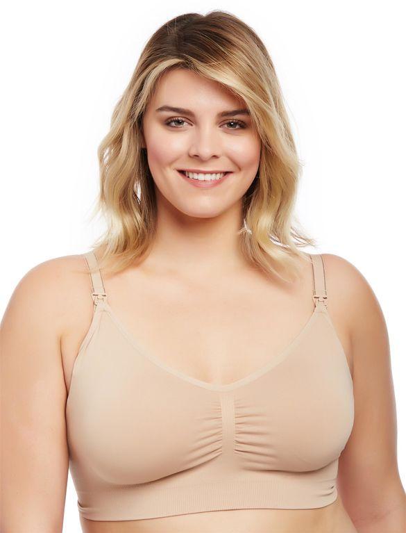 00d7a6a4e4967 Plus Size Seamless Clip Down Nursing Bra