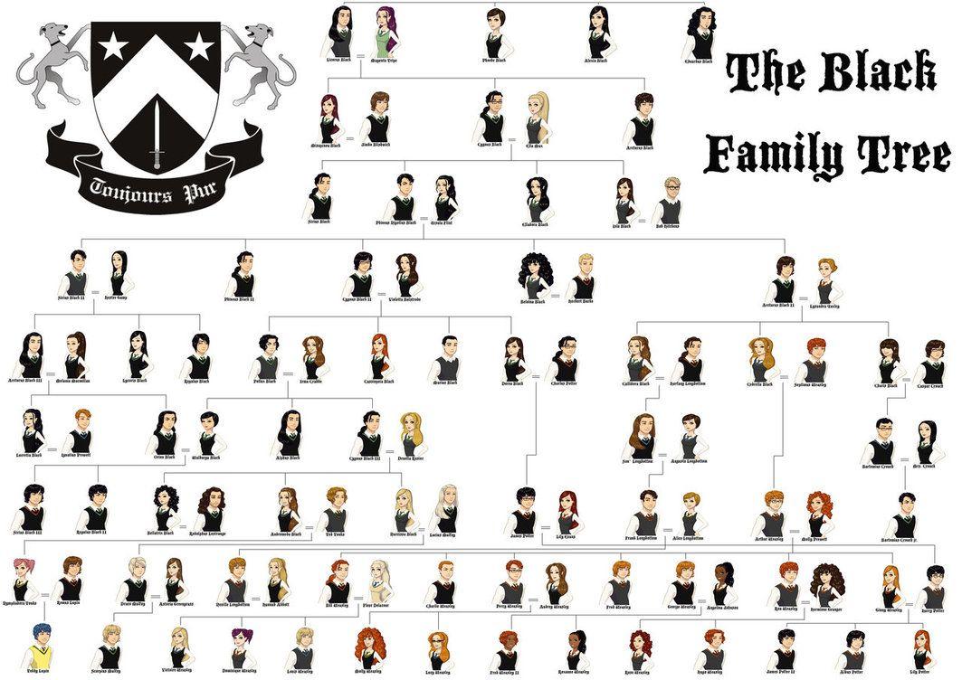 The Noble House Of Black Family Tree By Melanie12271994 D5hgu9j Jpg 1063 752 Harry Potter Family Tree Family Tree Harry Potter Fan Art