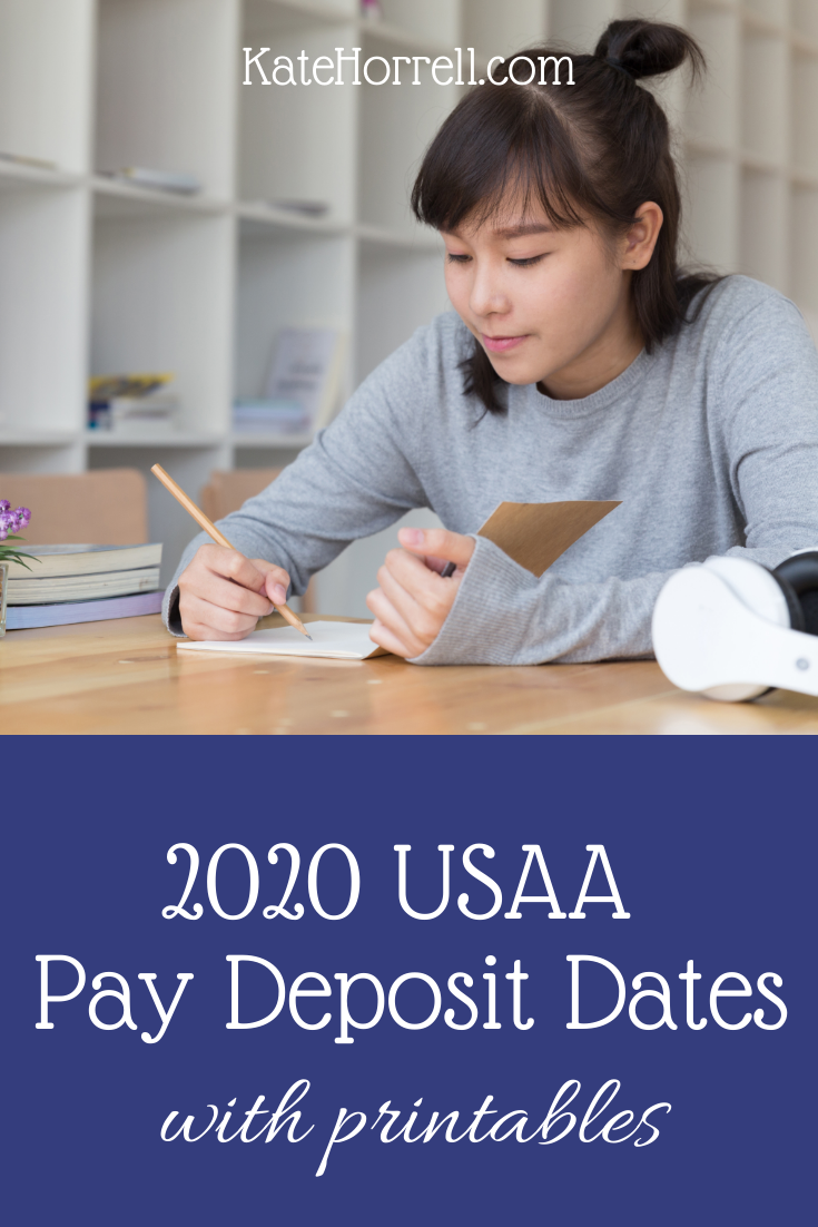 2020 Usaa Military Pay Deposit Dates With Printables Military
