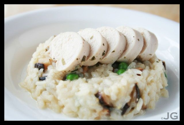 Poached Chicken Risotto, one of my favourites