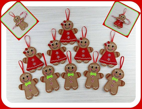 Gingerbread Candy Cane Holders - Gingerbread Christmas Party Favors