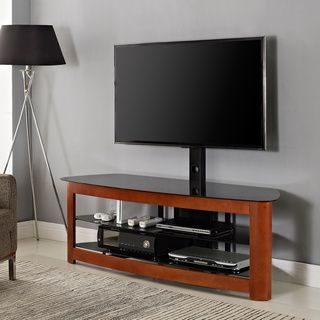60 In Cherry Tv Stand With Mount Affordable Entertainment Centers