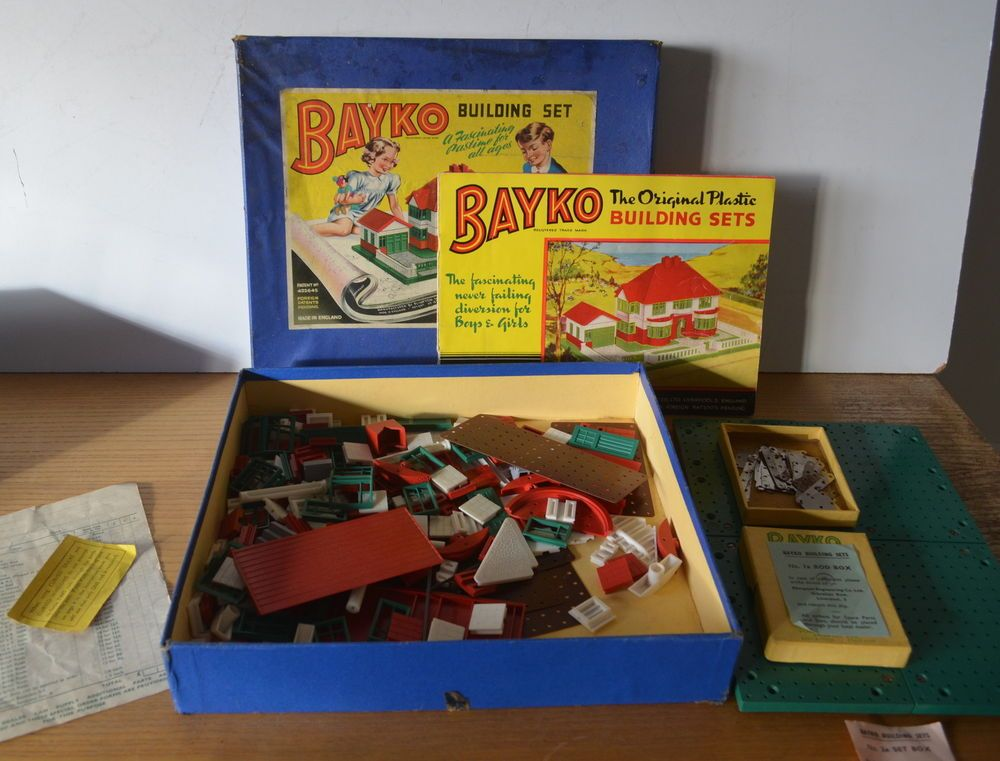 Bayko Building Sets 1 And 2x Vintage Childrens 1950s 1960s