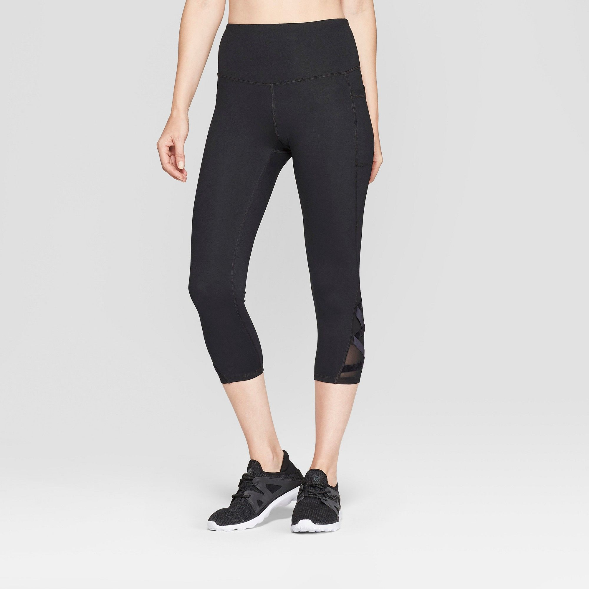 272d5c15263c Women s Studio High-Waisted Capri Leggings - C9 Champion Black XL ...