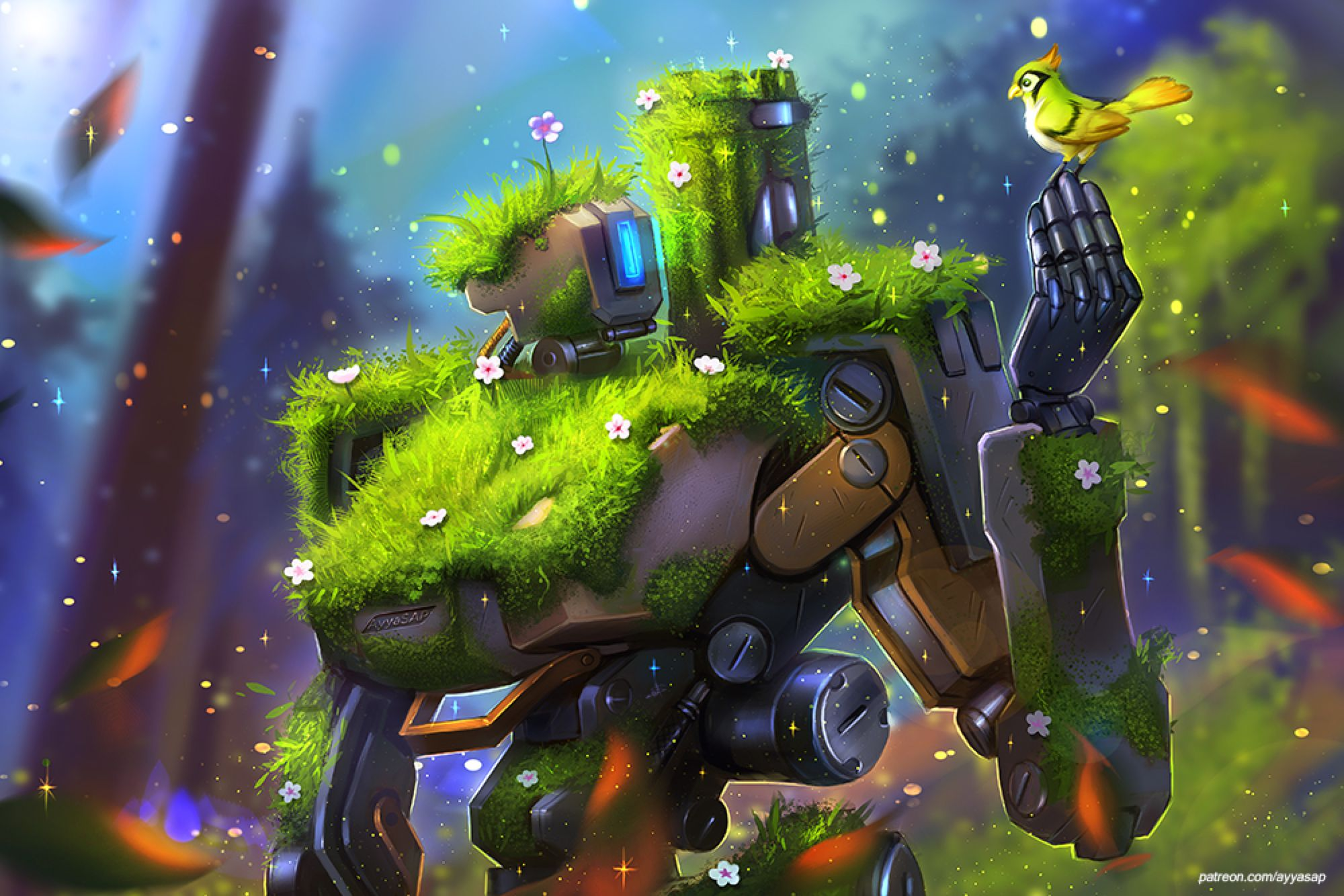 Bastion And Ganymede Commission By Ayyasap On Deviantart Overwatch Wallpapers Overwatch Fan Art Medieval Artwork