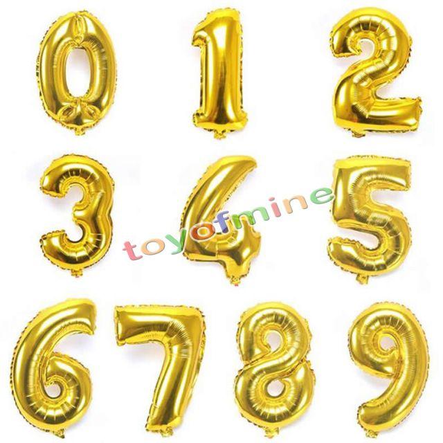 40 cm ballon chiffre nombre gonflable anniversaire fête mariage 16/'/'