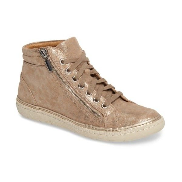 Sofft Annaleigh Leather Side Zip High Top Sneakers ZMxdkvgy