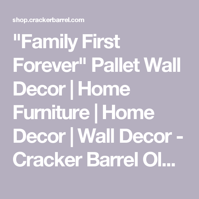 Family first forever pallet wall decor home furniture home decor wall
