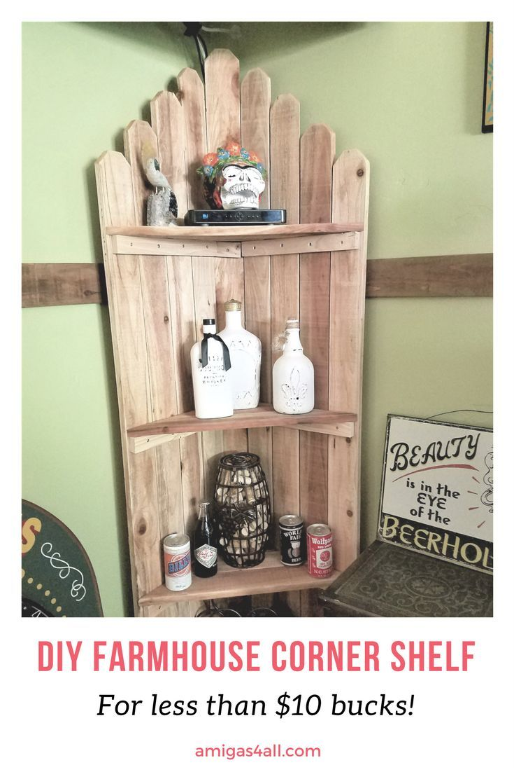 Easy Rustic Corner Shelf Amigas 4 All Rustic Corner Shelf Corner Shelves Home Diy